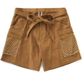 ANALOG LIGHTING - Fish Net Shorts (brown)