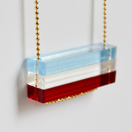 HookAndMatter - Red White and Blue Necklace - 4th of July - Stars and Stripes