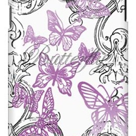 SECOND SKIN - 池田ハル 「Butterfly」 パープル / for GALAXY Note III SC-01F/docomo