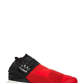 Y-3 - QASA HIGH SNEAKERS IN BLACK AND RED