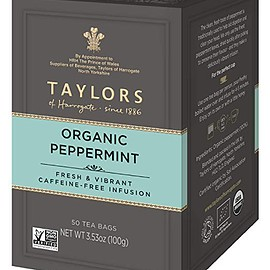Taylors - Organic Peppermint Herbal Tea, 50 Teabags