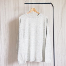crepuscule - Knit Long T-Shirt #denim