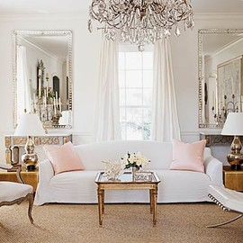 Beautiful white bed