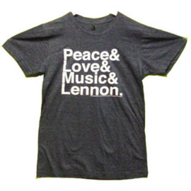 JOHN LENNON / PEACE LOVE MUSIC / T-Shirts Tシャツ ジョン・レノン