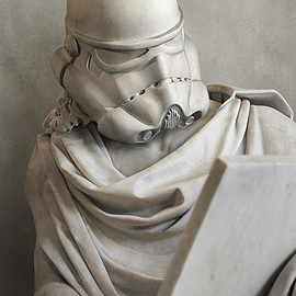 travis durden solidifies - star wars characters as ancient greek statues