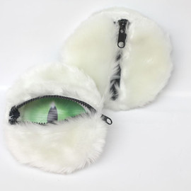 """7 Little Moments - See Money Open Eyes"""" Series (「見錢開眼」系列) Coin Bag - White Cat"""