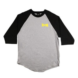 HUF - BOW TIE BASEBALL TEE (Heather/Black)