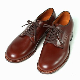 ALDEN - 53713 /Plain Toe Oxford /Military Last /Carf Leather