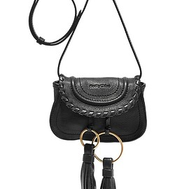 See by Chloé - Polly tasseled textured-leather shoulder bag