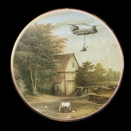 Banksy - Helicopter plate