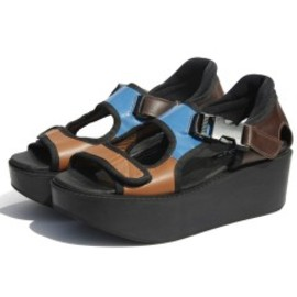 P.A.M. - Rousseau Platform Sandals (blue/black)