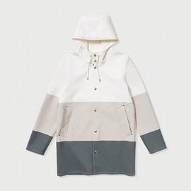 Stutterheim - Stockholm Raincoat (White/LightSand/Grey)