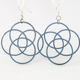 GreenTreeJewelry - Circles of Life - Laser Cut Wood Earrings