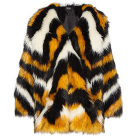 Meadham Kirchhoff - Meadham Kirchhoff Pam Tagon striped faux fur coat