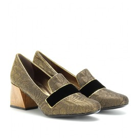 Lanvin - METALLIC LOAFER PUMPS