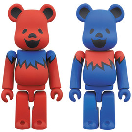 MEDICOM TOY - BE@RBRICK GRATEFUL DEAD DANCING BEARS 100%