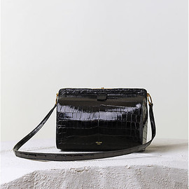 CELINE - MINI DOC HANDBAG in BLACK CROCODILE