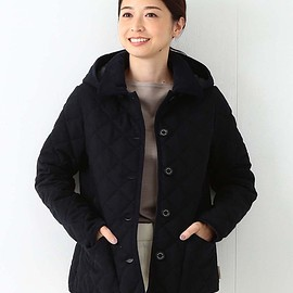 "Traditional Weatherwear - Traditional Weatherwear / 別注 ""WAVERLY"" フードショートブルゾン ソリッド"