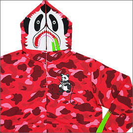 A BATHING APE - Panda FullZip Parker (GOLD MEMBERS Limited)