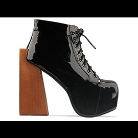 JEFFREY CAMPBELL - shoes security (black patent)