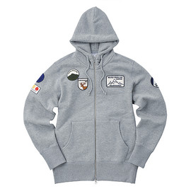 LOOPWHEELER - LW Light Mountain Badge High-neck Hoodie