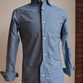 Nigel Cabourn - BRITISH OFFICERS SHIRTS(OX) -sax blue-
