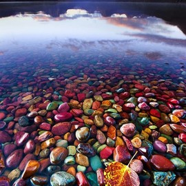 Glacier National Park, Montana, United States - Pebble Shore Lake