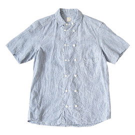 TATAMIZE - 【別注】 TATAMIZE DOUBLE BRESTED LINEN S/S SHIRTS STRIPE