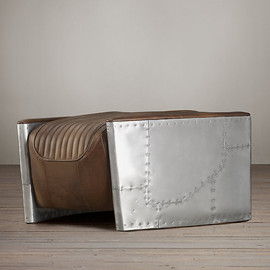 Restoration Hardware - Aviator Ottoman