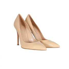 GIANVITO ROSSI - BEIGE PATENT LEATHER PUMPS