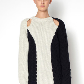 3.1 Phillip Lim - BOXY CABLE SWEATER
