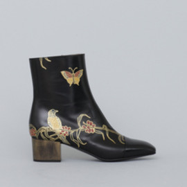 Dries Van Noten - Gold Hand Painted Boot
