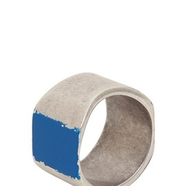 MAISON MARTIN MARGIELA - BLUE SQUARE RING