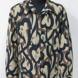 NUMBER (N)INE - tribal camo flannel shirts