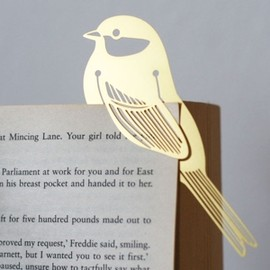 Hommin - GOLD BIRD METAL BOOKMARK