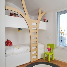 children's bed room with tree