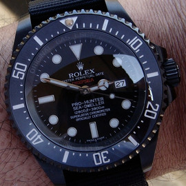 Rolex - Pro Hunter Military Single Red DeepSea Rolex Watch Available On James List   rolex