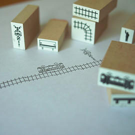 TRAINIART - train stamps 8pieces スタンプ