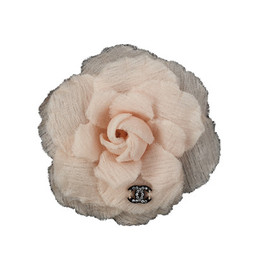 CHANEL - Valentine2012 - Organza camellia Embellished With Chanel Signature