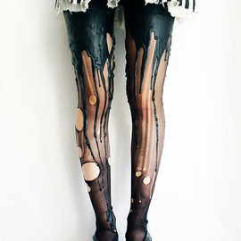 URB clothing - Black on Black Meltingtights