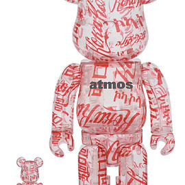 MEDICOM TOY - BE@RBRICK atmos × Coca-Cola 100% & 400% CLEAR BODY