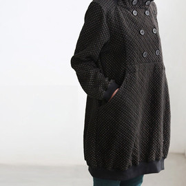 MaLieb - Happy smiling/ cute double breasted knee length tunic coat