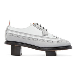 不明 - Thom Browne - Grey & White Suede Geisha Brogues
