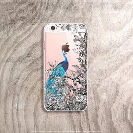 bycsera - Peacock iPhone 6s Case Clear iPhone 6s Case Floral iPhone 6s Case Vintage Floral iPhone 6S Plus