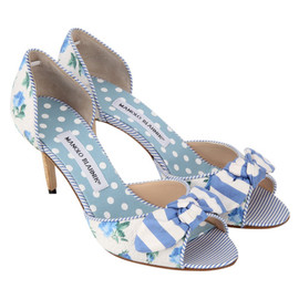 Manolo Blahnik - FLOWER PRINT SANDAL WITH BOW