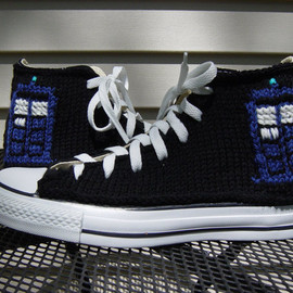 CONVERSE - Dr. Who TARDIS Knit Chucks