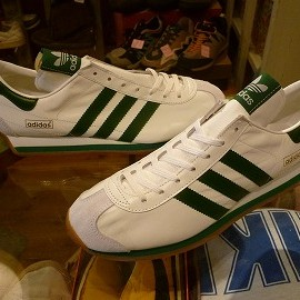 "adidas - 「<deadstock>'98 adidas COUNTRY white/green""made in JAPAN"" size:26.5cm 14800yen」完売"
