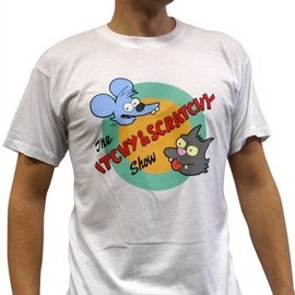 FOX - Simpsons T-Shirt: Itchy and Scratchy