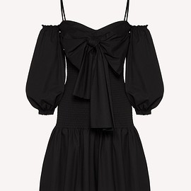Red Valentino - Dress in compact poplin with bow detail