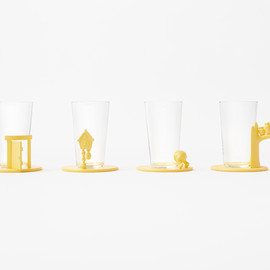 nendo for Walt Disney Japan - pooh-glassware - coaster